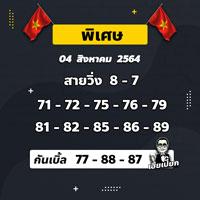 เลขเด็ดหวยฮานอยพิเศษ 04/08/64